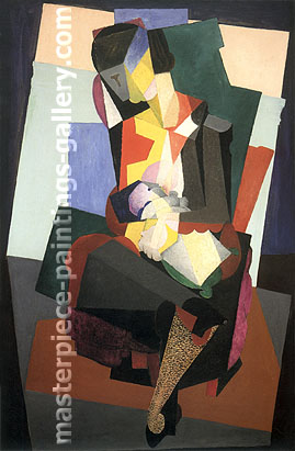 Diego Rivera, Motherhood Angelina Child, 1916, oil on canvas, 38 x 23.5 in / 96.5 x 59.6 cm, US$310