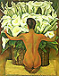 Diego Rivera, Nude with Calla Lilies, 1944, oil on canvas, 32 x 25.3 in / 81.3 x 64.3 cm, US$320