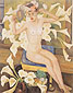 Diego Rivera, Nude with Flowers | Velied Woman, 1943, oil on canvas, 60 x 46 in. / 152.4 x 116.8 cm, US$610