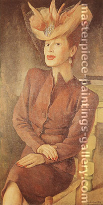 Diego Rivera, Portrait of Adalgisa Nery, 1945, oil on canvas, 48.5 x 24.6 in. / 123.3 x 62.4 cm, US$490