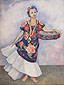 Diego Rivera, Portrait of Dolores Olmedo, 1955, oil on canvas, 39.4 x 29.9 in. / 100 x 76 cm, US$400