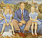 Diego Rivera, Portrait of the Knight Family, 1946, oil on canvas, 57 x 63.6 in. / 144.7 x 161.5 cm, US$640