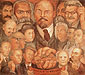 Diego Rivera, Proletarian Unity | Portrait of America, 1933, oil on canvas, 51 x 63.4 in. / 129.5 x 161 cm, US$640