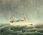 Henri Rouseau, Boat in the Storm, 1896, oil on canvas, 21.3 x 25.6 in. / 54 x 65 cm, US$275