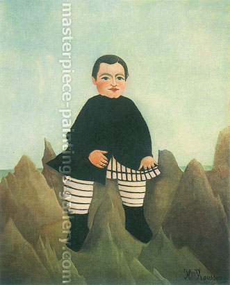 Henri Rousseau, Boy on the Rocks | L'enfant aux rochers, 1895-1897, oil on canvas, 32 x 26.3 in. / 81.3 x 66.7 cm, US$400
