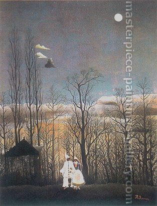 Henri Rousseau, A carnival Evening, 1886, oil on canvas, 42.1 x 35.2 in. / 106.9 x 89.3 cm, US$350