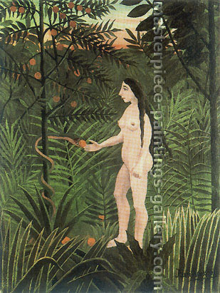 Henri Rousseau, Eve, 1905-1907, oil on canvas, 32 x 25.7  in./ 81.3 x 65.3 cm, US$290