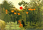 Henri Rousseau, Exotic Landscape, Fight between Gorilla and Indian | Paysage exotique, 1910, oil on canvas, 32 x 22.4 in. / 81.3 x 56.9 cm, US$290