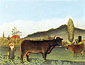 Henri Rousseau, Landscape with Cattle | Paysage avec vaches, 1895-1990, oil on canvas, 24.6 x 32 in. / 62.5 x 81.3 cm, US$290