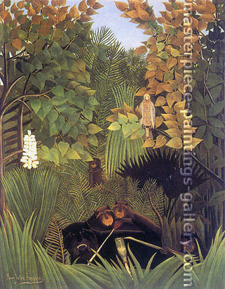 Henri Rousseau, Merry Jesters | Joyeux farceurs, 1906, oil on canvas, 32 x 24.9 in. / 81.3 x 63.2 cm, US$650