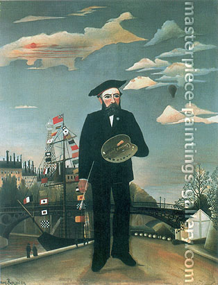 Henri Rousseau, My self. Portrait-landscape | Moi-Meme | Portrait-Paysage, 1890, oil on canvas, 32 x 24.6 in. / 81.3 x 62.5 cm, US$490