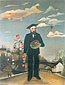 Henri Rousseau, My self. Portrait-landscape | Moi-Meme | Portrait-Paysage, 1890, oil on canvas, 32 x 24.6 in. / 81.3 x 62.5 cm, US$290