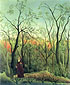 Henri Rousseau, The Walk in the Forest | La promenade dans la foret, 1886, oil on canvas, 27.6 x 23.8 in. / 70 x 60.5 cm, US$280