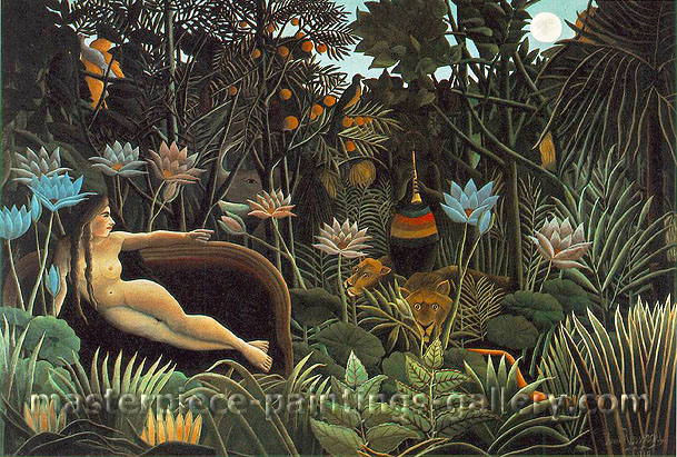Henri Rousseau, The Dream, 1910, oil on canvas, 32 x 22 in / 81.3 x 55.9 cm, US$650