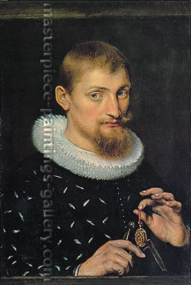 Peter Paul Rubens, Portrait of a Young Man, 1597, oil on canvas, 29.8 x 20.1 in. / 75.6 x 51.1 cm, US$340