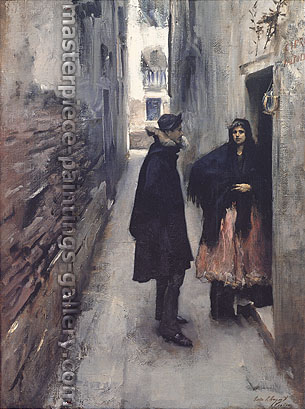 John Singer Sargent, A Street in Venice, 1880, oil on canvas, 29.6 x 20.6 in. / 75.1 x 52.4 cm, US$340