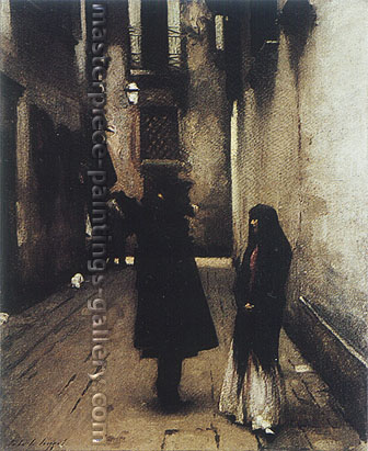 John Singer Sargent, Venetian Street, 1880, oil on canvas, 29 x 23.7 in. / 73.7 x 60.3, US$340