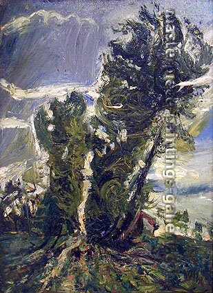 Chaim Soutine, Large Poplars at Civery | After the Storm, 1939, oil on canvas, 28.7 x 21.3 in. / 73 x 54 cm, US$350