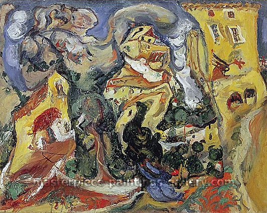 Chaim Soutine, The Village, 1923, oil on canvas, 28.9 x 36.2 in. / 73.5 x 92 cm, US$345