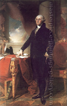 Gilbert Stuart, George Washington Standing, 1796, oil on canvas, 47.8 x 33.5 in. / 121.3 x 85.1 cm, US$550