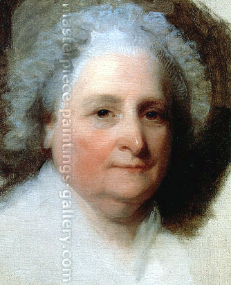 Gilbert Stuart, Athenaeum Martha Washington (Detail 2), 1796, oil on canvas, 32 x 26 in. / 81.3 x 66 cm, US$330