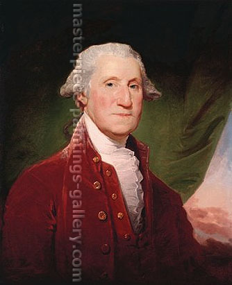 Gilbert Stuart, Portrait of George Washington in Red Coat, 1795, oil on canvas, 29.3 x 24 in. / 74.3 x 60.9 cm, US$300