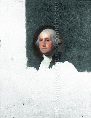 Gilbert Stuart, Athenaeum Washington, 1796, oil on canvas, 39.6 x 34.5 in. / 100.6 x 87.6 cm, US$280