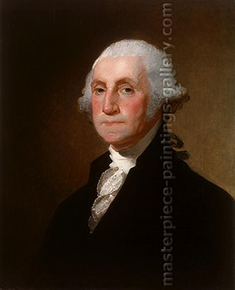 Gilbert Stuart, Portrait of George Washington, 1821, oil on canvas, 26.4 x 21.6 in. / 67 x 55 cm, US$400