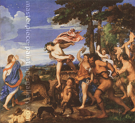 canvas reproductions art Titian | Tiziano Vecellio, Bacchus and Ariadne, 1520-23, oil on canvas, 44.1 x 48 in. / 112.1 x 121.9 cm, US$670