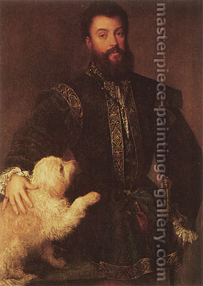 Titian | Tiziano Vecellio, An Elegant Patron, 1529, oil on canvas, 25.6 x 35.2 in. / 65 x 89.4 cm, US$400