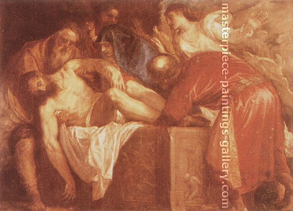 Titian | Tiziano Vecellio, Entombment original, 1559, oil on canvas, 23.5 x 32.5 in. / 59.7 x 82.5 cm, US$330