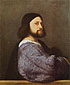 Titian | Tiziano Vecellio, The Man with a Blue Sleeve, 1511, oil on canvas, 31.8 x 26 in. / 80.8 x 66 cm, US$330