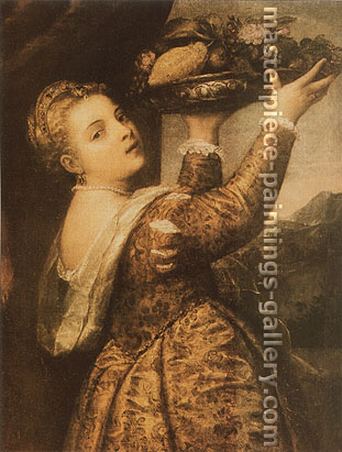 Titian | Tiziano Vecellio, Titian's Model Daughter, 1530, oil on canvas, 35.3 x 26.8 in. / 89.6 x 68 cm, US$360