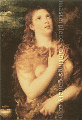 Titian | Tiziano Vecellio, St Mary Magdalen, 1535, oil on canvas, 25.2 x 37.5 in. / 64 x 95.3 cm, US$430