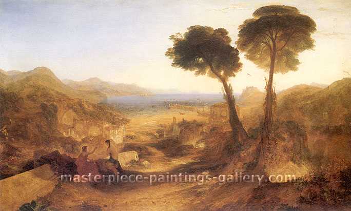 JMW Turner, The Bay of Baiae, with Apollo and the Sibyl, 1823, oil on canvas, 37.2 x 61.2 in. / 94.6 x 155.4 cm, US$540