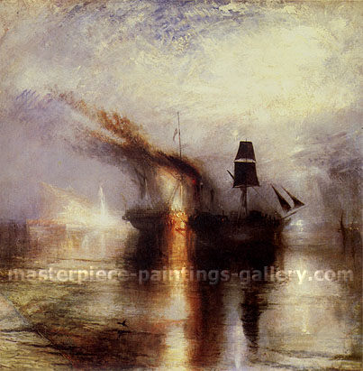 JMW Turner, Peace - Burial at Sea, 1842, oil on canvas, 34.3 x 34 in / 87 x 86.5 cm, US$305