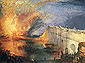 The Burning of the Houses of Lords and Commons on 16th October 1834, 1835, oil on canvas, 26.9 x 36 in / 68.4 x 91.4 cm, US$320