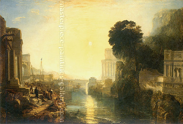 JMW Turner, Dido building Carthage | The Rise of the Carthaginian Empire, 1815, oil on canvas, 32.8 x 49 in. / 83.4 x 124.5 cm,US$600