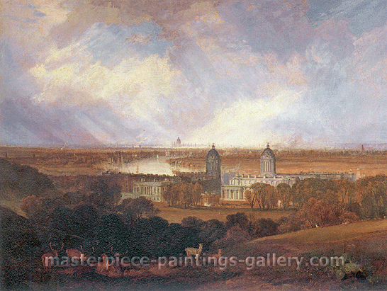 JMW Turner, London, 1809, oil on canvas, 35.4 x 47.2 in. / 90 x 120 cm, US$500