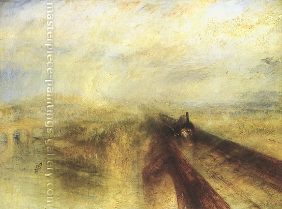 JMW Turner, Rain, Steam and Speed, 1844, oil on canvas, 35.3 x 48 in. / 89.5 x 121.9 cm, US$520