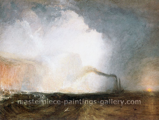 JMW Turner, Staffa | Fingal's Cave, 1832, oil on canvas, 35.8 x 47.8 in. / 90.9 x 121.4 cm, US$420