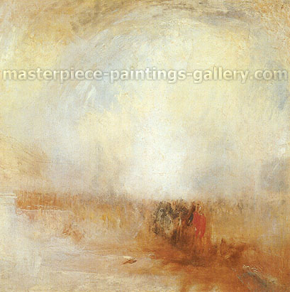 JMW Turner, Venetian Scene, 1840, oil on canvas, 31.3 x 31.1 in. / 79.5 x 79 cm, US$340
