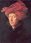 Jan van Eyck, A Man in a Red Turban | Jan van Eyck Self-portrait, 1433, oil on canvas, 13 x 10.2 in. / 33 x 26 cm, US$320