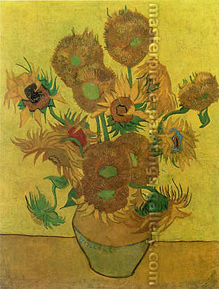 Vincent van Gogh, Still Life: Vase with Fourteen Sunflowers, 1889, (JH 1667) oil on canvas, 37.4 x 28.7 in. / 95 x 73 cm, US$475