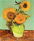 Vincent van Gogh, Three Sunflowers in a Vase, 1888, oil on canvas, 28.7 x 22.8 in. / 73 x 58 cm, US$279