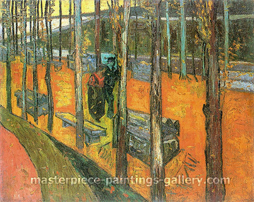 Vincent van Gogh, Les Alyscamps, 1888, oil on canvas, 28.7 x 36.2 in. / 73 x 92 cm, US$330