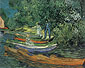 Vincent van Gogh, Bank of the Oise at Auvers, 1890, oil on canvas, 28.9 x 36.9 in. /  73.5 x 93.7 cm, US$320