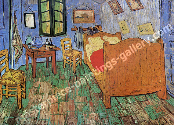 Vincent van Gogh, Vincent's Bedroom in Arles, 1889, oil on canvas, 28.7 x 36.2 in. / 73 x 92 cm, US$560