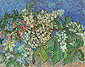 Vincent van Gogh, Blossoming Chestnut Branches, 1890, oil on canvas, 28.3 x 35.8 in. / 72 x 91 cm, $US350