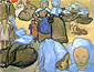 Vincent van Gogh, Breton Women (after Emile Bernard), 1888, oil on canvas, 18.7 x 24.4 in. / 47.5 x 62 cm, US$270
